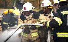 City of Joburg Executive Mayor Herman Mashaba participated in a demonstration of the capacity of new fire engines to douse fires at Florida Fire Station, Roodepoort on 13 June 2018. Picture: Sethembiso Zulu/EWN