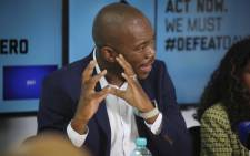 DA leader Mmusi Maimane addresses the media at a #DefeatDayZero briefing in Cape Town. Picture: Cindy Archillies