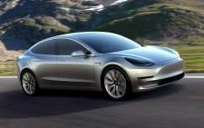 Tesla Motors Inc. showcasing its new Model 3 electric sedan. Picture: www.teslamotors.com.