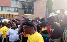 Malema Supporters arrive at the Polokwane Magistrates Court on 26 September 2012. Picture: Christa van der Walt/EWN