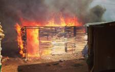 FILE: A shack on fire. Picture: EWN.