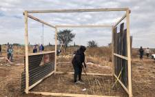 Ennerdale residents illegally erecting shacks on a piece of land. Picture: Mia Lindeque/EWN.