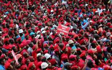 FILE: EFF supporters march on the JSE in Sandton on 27 October 2015. Picture: Reinart Toerien/EWN