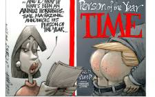 Following news that Time magazine has asked the Trump organisation to remove fake covers of their magazine bearing his image from his golf clubs, Dr Jack & Curtis offer their 2016 cartEWN as a more apt replacement.
