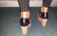 A woman wearing a wedge heel sandal. Picture: Eyewitness News