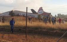 FILE: A view of an aircraft that went down near Wonderboom Airport, northern Pretoria. Picture: Supplied.