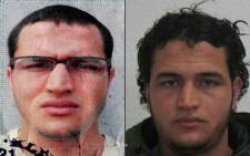 A handout portrait released by German Federal Police Office on 21 December 2016 showing two pictures of a Tunisian man identified as Anis Amri, suspected of being involved in the Berlin Christmas market attack, that killed 12 people on 19 December 19.  Picture: AFP.