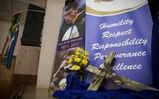 Banners were erected at the FH Odendaal High School in Pretoria on 9 February 2017 for the late Springbok star Joost van der Westhuizen's memorial service on 9 February 2017. Picture: Reinart Toerien/EWN