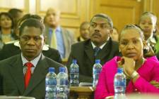 Former Gauteng Premier Paul Mashatile next to new MEC for Health and Social Development, Qedani Mahlangu. Picture: Taurai Maduna/Eyewitness News