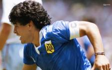 A screengrab of Diego Maradona during the 1986 World Cup. Picture: CNN