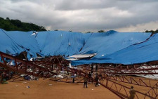 The Reigners Bible Church collapsed in Uyo, Akwa Ibom state leaving many dead. Picture: Twitter @NigeriaNewsdesk.