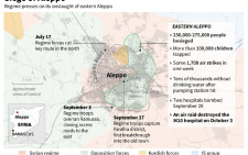 Update on the situation in eastern Aleppo where more than 250,000 people are besieged and a hospital was destroyed in an air raid on Monday.