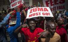 EFF members march through the Pretoria CBD during their ZumaMustFall march. Picture: Thomas Holder/EWN
