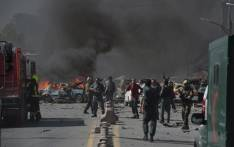 FILE: This file photo shows Afghan security forces arrive at the site of a car bomb attack in Kabul on 31 May 2017. Picture: AFP