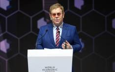 British singer Sir Elton John delivers a speech after receiving a Crystal Award from the hands of Schwab Foundation for Social Entrepreneurship Chairperson and Co-Founder during a ceremony ahead of the World Economic Forum (WEF) 2018 annual meeting. Picture: AFP