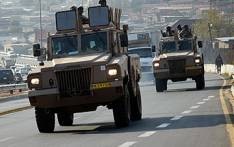 Members of the South African National Defence Force (SANDF) patrol Rea Vaya routes in Soweto. Picture: EWN