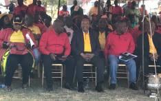 FILE: President Zuma seated alongside SACP, Sanco & Cosatu leaders at Cosatu's May Day rally in Bloemfontein on 1 May, 2017. Picture: Kgothatso Mogale/EWN.