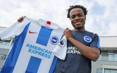 Brighton and Hove Albion have completed the signing of striker Percy Tau from Mamelodi Sundowns on undisclosed terms. Picture: @OfficialBHAFC/Twitter.