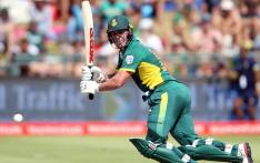 FOUR by AB de Villiers and a 4-wicket victory for South Africa against New Zealand. Picture: Twitter @OfficialCSA.