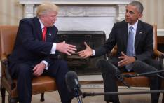 FILE: US President Barack Obama and Republican President-elect Donald Trump shake hands during a transition planning meeting in the Oval Office at the White House. Picture: AFP.
