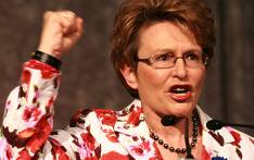 Democratic Alliance leader Hellen Zille addresses delegates at the national convention in Sandton convened by former defence minister Mosiuoa Lekota and former Gauteng Premier Mbhazima Shilowa on 1 November 2008. Picture: EWN.