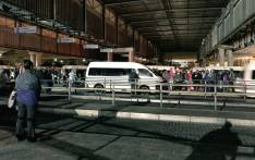 Commuters at a bus terminal in Mitchells Plain, Cape Town queue for taxis due to a bus strike on 18 April 2018. Picture: Cindy Archillies/EWN