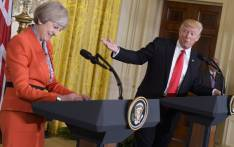 US President Donald Trump speaks during a joint press conference with Britain's Prime Minister Theresa May in the East Room of the White House on 27 January 2017 in Washington, DC. Picture: AFP.