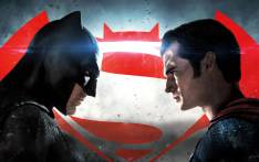 FILE: A poster for 'Batman v Superman: Dawn of Justice'.