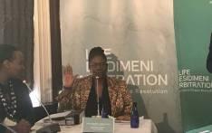 Phumzile Motshegwa at the Esidimeni arbitration hearings. Picture: Masego Rahlaga/EWN.