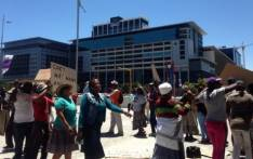 Wolwerivier community members protest. Picture: EWN