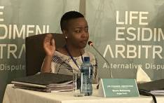 Moelo Mofokeng, whose sister died at one of the NGOs after being transferred there from a Life Esidimeni facility, testifies at the arbitration hearing on 22 November 2017. Picture: Masego Rahlaga/EWN