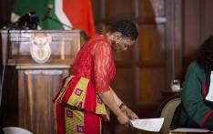 Newly appointed  Minister of Home Affairs Hlengiwe Mkhize prepares to take her oath during the swearing in ceremony of President Jacob Zuma's new cabinet in Pretoria on 31 March 2017. Picture: Reinart Toerien/EWN