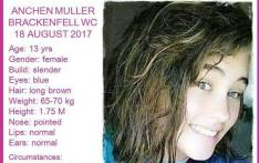 13-year-old Anchen Muller is missing. Picture: Pink Ladies.