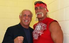 Friends Ric Flair and Hulk Hogan. Picture: Twitter @RicFlairNatrBoy.