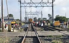 The scene of a collision between a train and a bakkie at the Buttskop level crossing in Blackheath, Cape Town on 27 April 2018. Picture: Shamiela Fisher/EWN