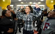 Rihanna hosts a pep rally to celebrate the launch of the AW17 FENTY PUMA by Rihanna collection at Bloomingdales on 59th Street on 13 October 2017 in New York City. Picture: AFP.