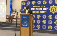 Minister of Police Bheki Cele addressing Tafelsig residents in Mitchells Plain on Thursday. Picture: Kaylynn Palm/EWN.
