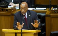 South African President Jacob Zuma answers questions from opposition parties in Parliament on 16 April 2015. Picture: AFP.