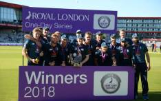 England celebrate their ODI series victory over Australia on 24 June 2018.Picture: @englandcricket/Twitter