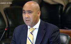 A screengrab of NPA head Shaun Abrahams briefing MPs on the status of investigations into state capture.