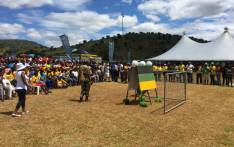 ANC supporters have converged at the CN Phatudi TVET College outside Burgersfort for President Jacob Zuma's address. Picture: Pelani Phakgadi/EWN.