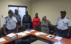 King Williams Town Cluster Commanders observe a moment of silence for the five police officers who were killed in an attack on the Ngcobo Police Station. Picture: SAPS.