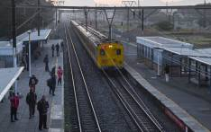 FILE: A Metrorail passenger train arrives at a station. Picture: EWN