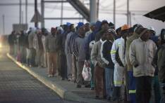 South African miners. Picture: AFP.
