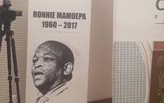 A banner of the late government spokesperson Ronnie Mamoepa put up at his memorial service on 26 July 2017. Picture: GCIS
