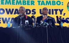 ANC secretary-general Gwede Mantashe (left) and national spokesperson Zizi Kodwa at a press briefing at the party's national conference at Nasrec, Johannesburg on 18 December, 2017. Picture: @MYANC/Twitter