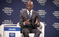 Finance Minister Malusi Gigaba makes a point at the World Economic Forum Africa meeting in Durban. Picture: AFP