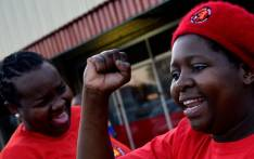 FILE: Striking NUM members take part in a protest in Carletonville in 2013. Picture: AFP.