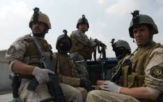 In this photograph taken on July 27, 2017, Afghan special forces perform a drill during exercises at their training centre in Kabul. Picture: AFP