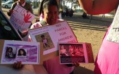 A large group of supporters gathered outside the Wynberg Magistrates Court on 25 April 2017 brandishing posters with photos of the Rene Roman on them. Picture: Lauren Isaacs/EWN